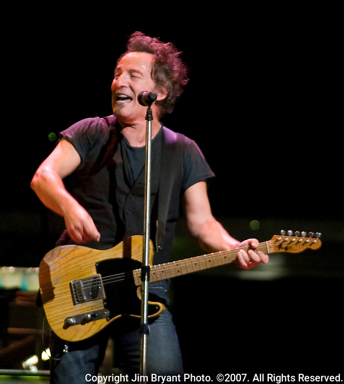 "Bruce Springsteen and the E Street Band performs ""Night"" from his Magic Album at the Key Arena in Seattle on March 29, 2008. The band is performing 55 tour dates that span North America and Europe. Jim Bryant Photo. ©2007. All Rights Reserved."