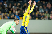 SOLNA, SWEDEN - OCTOBER 16: John Guidetti of Sweden during the UEFA International Friendly match between Sweden and Slovakia at Friends Arena on October 16, 2018 in Solna, Sweden. Photo by David Lidstrom/LP<br /> ***BETALBILD***