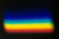 SPECTRUM: LIGHT REFRACTED BY A PRISM<br /> Spectrum refracted by prism (not shown).