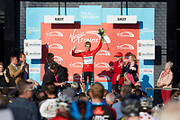Picture by SWpix.com - 04/05/2018 - Cycling - 2018 Tour de Yorkshire - Stage 2: Barnsley to Ilkley - Yorkshire, England - Madison Genesis' Mike Cuming takes the Virgin Trains Most Active jersey on Stage 2.