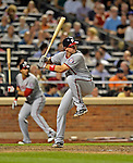 24 July 2012: Washington Nationals third baseman Ryan Zimmerman in action against the New York Mets at Citi Field in Flushing, NY. The Nationals defeated the Mets 5-2 to take the second game of their 3-game series. Mandatory Credit: Ed Wolfstein Photo