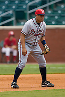 Mississippi first baseman Kala Ka'aihue (52) on defense versus Chattanooga at AT&T Field in Chattanooga, TN, Wednesday, July 25, 2007.