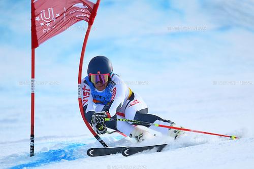 Simon Efimov (RUS), <br /> JANUARY 30, 2017 - Alpine Skiing : <br /> 28th Winter Universiade Almaty 2017 <br /> Men's Super-G <br /> at Shymbulak Ski Resort, Almaty, Kazakhstan.<br /> (Photo by AFLO SPORT)