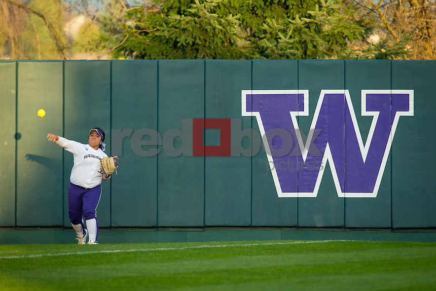 The University of Washington softball team defeats Bradley University 9-0 in the Husky Classic Softball Tournament at Husky Softball Stadium on Saturday March 9, 2013. (Photography By Scott Eklund/Red Box Pictures)...