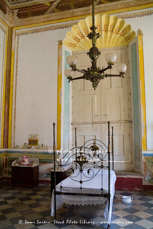 Bedroom inside the Museum of Colonial Architecture, Trinidad, Sancti Spiritus, Cuba.