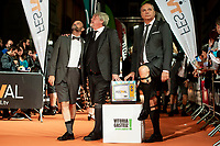 Javier Cansado, Javier Coronas and Pepe Colubi attends to orange carpet of new comedian schedule of #0 during FestVal in Vitoria, Spain. September 06, 2018. (ALTERPHOTOS/Borja B.Hojas) /NortePhoto.com NORTEPHOTOMEXICO