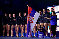 Team Serbia  <br /> Budapest 26/01/2020 Duna Arena <br /> ITALY (white caps) Vs. SERBIA (blue caps) Men <br /> Final 5th - 6th place <br /> XXXIV LEN European Water Polo Championships 2020<br /> Photo  © Andrea Staccioli / Deepbluemedia / Insidefoto