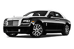 Stock pictures of low aggressive front three quarter view of 2018 Rollsroyce Ghost - 4 Door Sedan Low Aggressive
