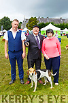 Tim Galvin, Mike O'Dwyer with his Kerry BAgel and Patsy Lawlor Secretary at the Killarney Dog show on Tuesday