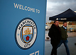 Fans arriving for the match during the premier league match at the Etihad Stadium, Manchester. Picture date 3rd December 2017. Picture credit should read: Andrew Yates/Sportimage