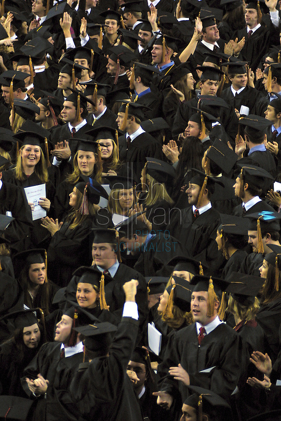 Fall 2002 graduation ceremony in Stegeman Coliseum at the University of Georgia.