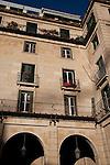 Facade and Windows on Plaza del Ayuntamiento Square, Alicante