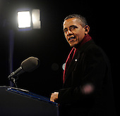 United States President Barack Obama makes remarks as he participates in the 2011 National Christmas Tree Lighting on the Ellipse in Washington, DC, on Thursday, December 1, 2011. .Credit: Roger L. Wollenberg / Pool via CNP
