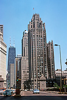 Chicago: Chicago Tribune Tower, 1925. Hood & Howells. Photo '77.