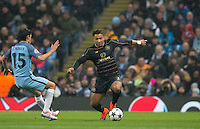 Emilio Izaguirre of Celtic in action during the UEFA Champions League GROUP match between Manchester City and Celtic at the Etihad Stadium, Manchester, England on 6 December 2016. Photo by Andy Rowland.