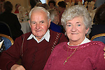 Peter and Nancy Carroll.having there christmas dinner int he Dermot Kierans Centre..Picture Fran Caffrey/www.newsfile.ie.