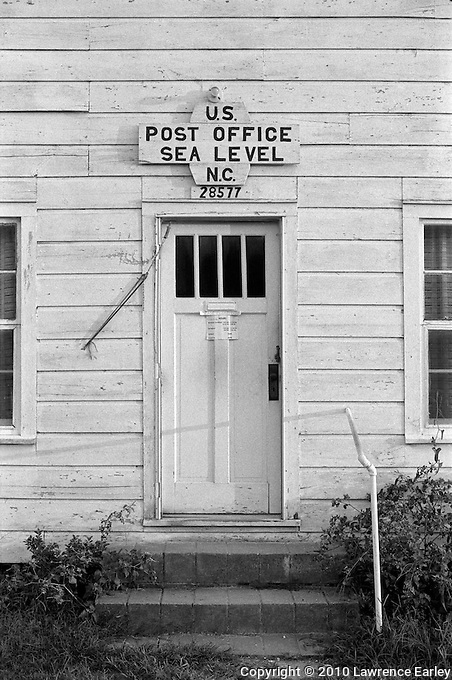 This post office building in Sealevel N.C. was photographed about 25 years ago. The building remains, but the post office is now housed in a newer building.