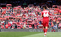 Liverpool's Trent Alexander-Arnold takes in the atmosphere ahead of kick-off at Anfield<br /> <br /> Photographer Rich Linley/CameraSport<br /> <br /> The Premier League - Liverpool v Wolverhampton Wanderers - Sunday 12th May 2019 - Anfield - Liverpool<br /> <br /> World Copyright © 2019 CameraSport. All rights reserved. 43 Linden Ave. Countesthorpe. Leicester. England. LE8 5PG - Tel: +44 (0) 116 277 4147 - admin@camerasport.com - www.camerasport.com