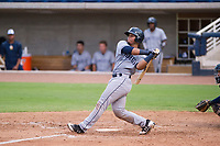 AZL Padres 2 catcher Luis Campusano (25) follows through on his swing against the AZL Brewers on September 2, 2017 at Maryvale Baseball Park in Phoenix, Arizona. AZL Brewers defeated the AZL Padres 2 2-0. (Zachary Lucy/Four Seam Images)