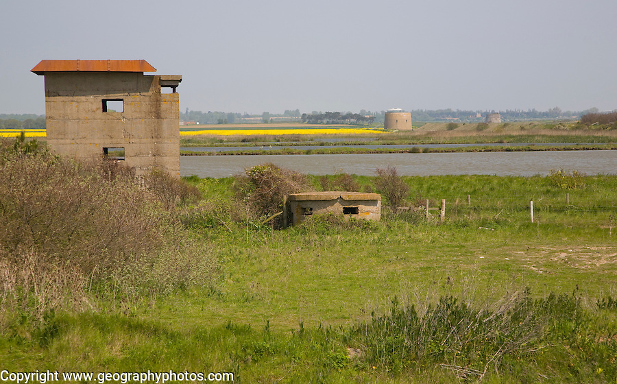 Military defences from Napoleonic to Second Word wars, Bawdsey, Suffolk, England