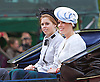 PRINCESSES BEATRICE AND EUGENIE RIDE IN CARRIAGE<br /> to the Trooping of the Colour Parade at Horse Guards.<br /> The event marks the Queen's Official Birthday, The Mall, London_15th June 2013<br /> Photo Credit: &copy;Reynolds/NEWSPIX INTERNATIONAL<br /> <br /> **ALL FEES PAYABLE TO: &quot;NEWSPIX INTERNATIONAL&quot;**<br /> <br /> PHOTO CREDIT MANDATORY!!: NEWSPIX INTERNATIONAL<br /> <br /> IMMEDIATE CONFIRMATION OF USAGE REQUIRED:<br /> Newspix International, 31 Chinnery Hill, Bishop's Stortford, ENGLAND CM23 3PS<br /> Tel:+441279 324672  ; Fax: +441279656877<br /> Mobile:  0777568 1153<br /> e-mail: info@newspixinternational.co.uk