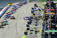 July 16, 2017 - Loudon, New Hampshire, U.S. -  Denny Hamlin, Monster Energy NASCAR Cup Series driver of the FedEx Office Toyota (11), heads to his pit box at the NASCAR Monster Energy Overton's 301 race held at the New Hampshire Motor Speedway in Loudon, New Hampshire. Eric Canha/CSM