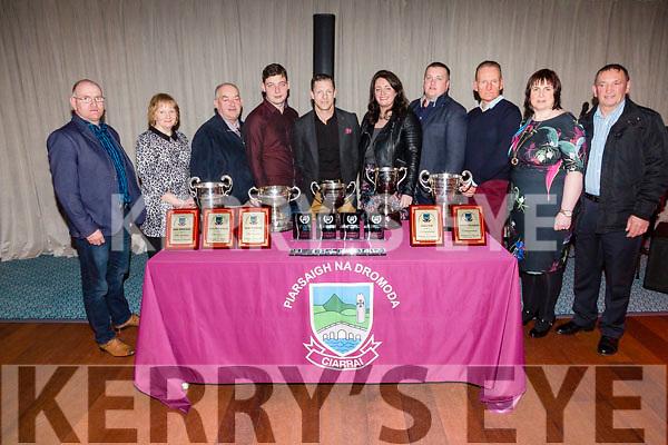 Dromid GAA Committee at the annual social in Waterville on Saturday night pictured l-r; Micheal Ó Curráin, Marie Uí Shiocháin, Diarmuid Ó Sé, Sean Ó Sé, Donnacha Ó Súilleabháin(Chairman), Deirdre Nic Gearailt(Secretary), Sean Ó Sé, Micheál Ó Súilleabháin, Suzanne Ní Laoighre(Treasurer) agus Micheál Ó Síocháin.