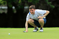 Jason Tobin (Castletroy) on the 18th green during the AIG Barton Shield Munster Final 2018 at Thurles Golf Club, Thurles, Co. Tipperary on Sunday 19th August 2018.<br /> Picture:  Thos Caffrey / www.golffile.ie<br /> <br /> All photo usage must carry mandatory copyright credit (&copy; Golffile | Thos Caffrey)
