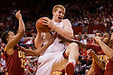December 3, 2012: Brandon Ubel (13) of the Nebraska Cornhuskers brings down the rebound against the USC Trojans during the first half at the Devaney Sports Center in Lincoln, Nebraska. Nebraska defeated USC 63 to 51.
