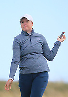 Eilidh Briggs (SCO) on the 9th tee during Round 3 of the Irish Women's Open Stroke Play Championship 2018 on Sunday 13th May 2018.<br /> Picture:  Thos Caffrey / Golffile<br /> <br /> All photo usage must carry mandatory copyright credit (&copy; Golffile | Thos Caffrey)