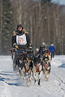 Musher Mike Cox, 2007 Open North American Championship sled dog race (the world's premier sled dog sprint race) is held annually in Fairbanks, Alaska.