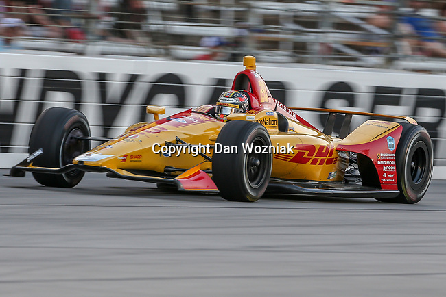 Andretti Autosport driver Ryan Hunter-Reay (28) of United States in action during the DXC Technology 600 race at Texas Motor Speedway in Fort Worth,Texas.