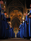 Sunday Vespers in the Basilica..Photo by Matt Cashore/University of Notre Dame