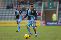 Paris Cowan-Hall of Wycombe Wanderers during the Sky Bet League 2 match between Plymouth Argyle and Wycombe Wanderers at Home Park, Plymouth, England on 30 January 2016. Photo by Mark  Hawkins / PRiME Media Images.