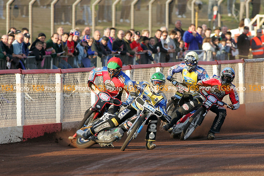 A large crowd watches a speedway meeting between Lakeside Hammers and Eastbourne Eagles at the Arena Essex Raceway, Purfleet - 15/06/07 - MANDATORY CREDIT: Gavin Ellis/TGSPHOTO. Self-Billing applies where appropriate. NO UNPAID USE. Tel: 0845 094 6026