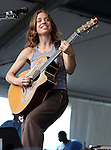 NEW ORLEANS, LA - MAY 03: Musician Ani DiFranco performs during the 2012 New Orleans Jazz & Heritage Festival at the Fair Grounds Race Course on May 3, 2012 in New Orleans, Louisiana.