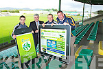 Pictured at the launch of the new Kerry GAA Website and iPhone app were Marc O'Shea, John O'Dwyer, Barry John Keane and Kerry County Board Chairman Patrick O'Sullivan.