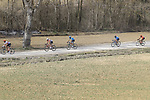 The peloton on sector 5 Lucignano d'Asso during Strade Bianche 2019 running 184km from Siena to Siena, held over the white gravel roads of Tuscany, Italy. 9th March 2019.<br /> Picture: Eoin Clarke | Cyclefile<br /> <br /> <br /> All photos usage must carry mandatory copyright credit (&copy; Cyclefile | Eoin Clarke)