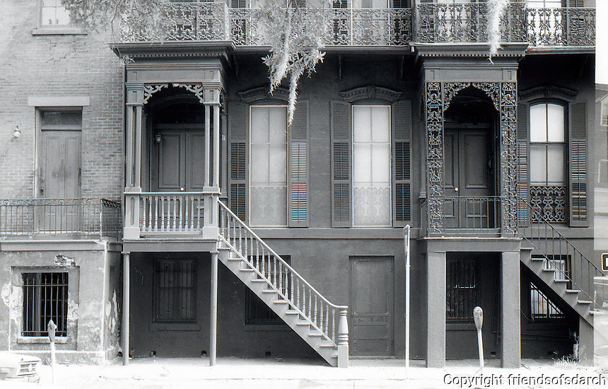 GA: Savannah--Row Houses, high porches.