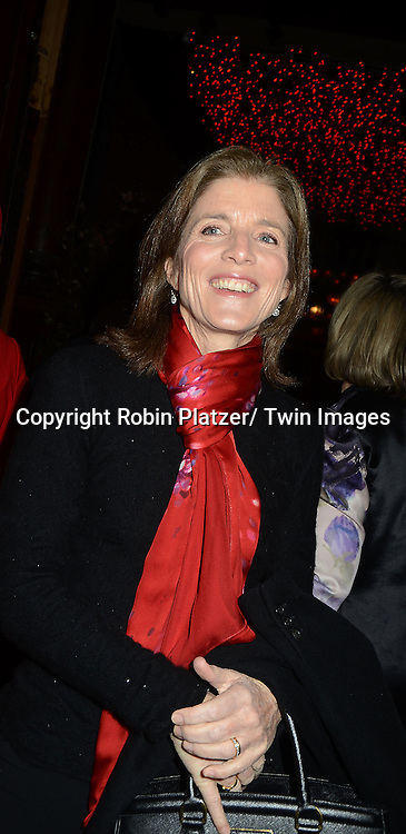 Caroline Kennedy attend the 59th Annual Winter Antiques Show opening night which benefits the East Side House Settlement on .January 24, 2013 at the Park Avenue Amory in New York City.
