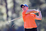 WILMINGTON, NC - OCTOBER 27: Florida's Taylor Tomlinson on the 13th tee. The first round of the Landfall Tradition Women's Golf Tournament was held on October 27, 2017 at the Pete Dye Course at the Country Club of Landfall in Wilmington, NC.