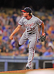 22 July 2011: Washington Nationals all-star pitcher Tyler Clippard on the mound in relief against the Los Angeles Dodgers at Dodger Stadium in Los Angeles, California. The Nationals defeated the Dodgers 7-2 in their first meeting of the 2011 season. Mandatory Credit: Ed Wolfstein Photo