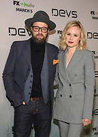 "LOS ANGELES - MARCH 2: Joshua Leonard and Alison Pill attend the premiere of the new FX limited series ""Devs"" at ArcLight Cinemas on March 2, 2020 in Los Angeles, California. (Photo by Frank Micelotta/FX Networks/PictureGroup)"