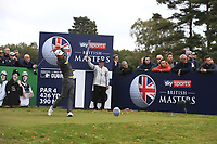 Daniel Im (USA) on the 15th tee during Round 1of the Sky Sports British Masters at Walton Heath Golf Club in Tadworth, Surrey, England on Thursday 11th Oct 2018.<br /> Picture:  Thos Caffrey | Golffile<br /> <br /> All photo usage must carry mandatory copyright credit (© Golffile | Thos Caffrey)
