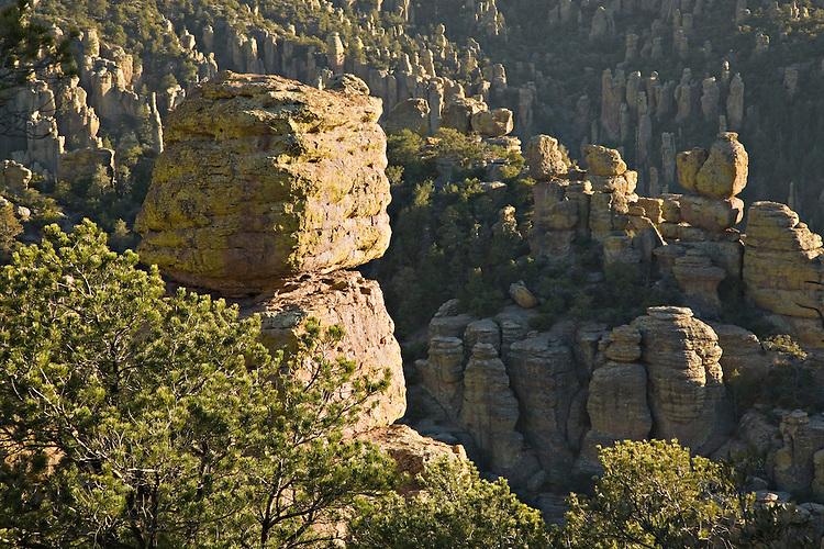 Rhyolite rock spires in Chiricahua National Monument, Arizona