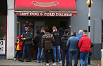 Fans queue for food and a takeaway ahead of the Premier League match at the Emirates Stadium, London. Picture date: 7th March 2020. Picture credit should read: Paul Terry/Sportimage