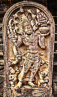 Guardian deity adorned with crown of seven flaring hooded cobras. (Photo by Matt Considine - Images of Asia Collection)