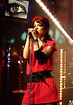 NEW YORK - APRIL 20: Singer Shirley Manson of the band Garbage performs on stage for FUSE's Comp'd show at Fuse Studios, April 20, 2005 in New York City. (Photo by Desiree Navarro/Getty Images) *** Local Caption *** Shirley Manson