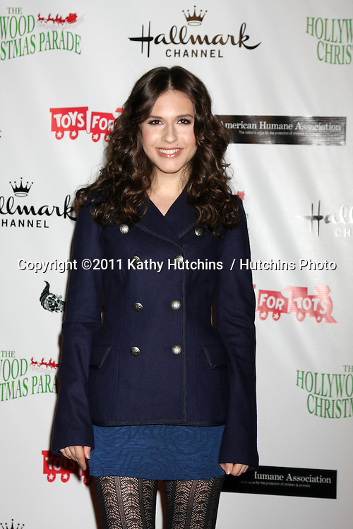 LOS ANGELES - NOV 27:  Erin Sanders arrives at the 2011 Hollywood Christmas Parade at Hollywood Boulevard at Sycamore on November 27, 2011 in Los Angeles, CA
