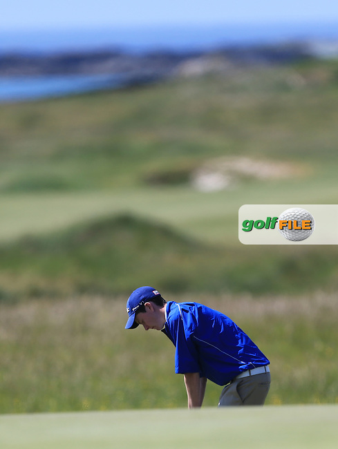 Andrew McGee (Powerscourt) on the 10th during the 1st round of the Irish Amateur Close Championship 2013 at the Connemara Golf Club Sat  8/6/13<br /> Picture:  Thos Caffrey www.golffile.ie